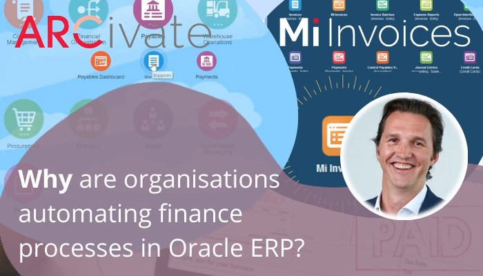 Automate your ERP - Why you should Automate your Oracle ERP System