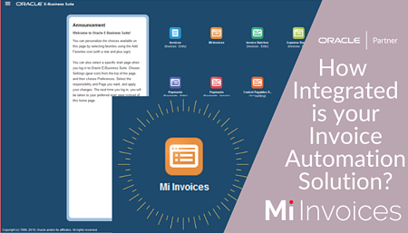 Arcivate Mi Invoices Invoice Automation in the Cloud integrated with Oracle eBusiness Suite