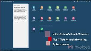 Mi Invoices Invoicing Insights video of the integration with Oracle eBusiness Suite