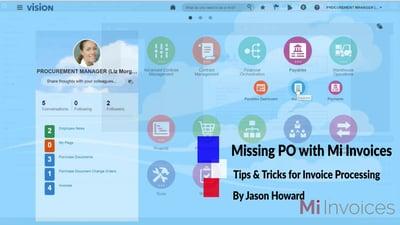Arcivate Mi Invoices Missing PO exception handling
