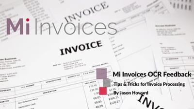 Accounts Payable -Tips & Tricks for Invoice Processing on providingOCR Feedback in Mi Invoices